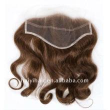 Piezas superiores del cabello natural de la India