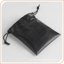 Luxury leather gift packing pouch drawstring bag