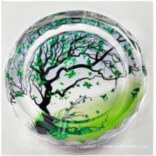 Cendrier en verre de cristal d'arbre souhaitant chaud (JD-CA-813)