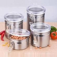 Preço barato por atacado Caixa de armazenamento de alimentos 200 ml de aço inoxidável pequeno pote de vedação