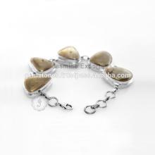Gemstone semi precioso con la joyería india de plata de la manera