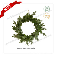 28′′ Multicolour 100% PE Plastic Wreath Christmas Decoration