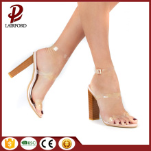 12cm sexy high-heel PVC lace strappy sandals