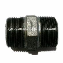 Hexágono Galvanizado Nipple Malleable Iron Pipe Fittings