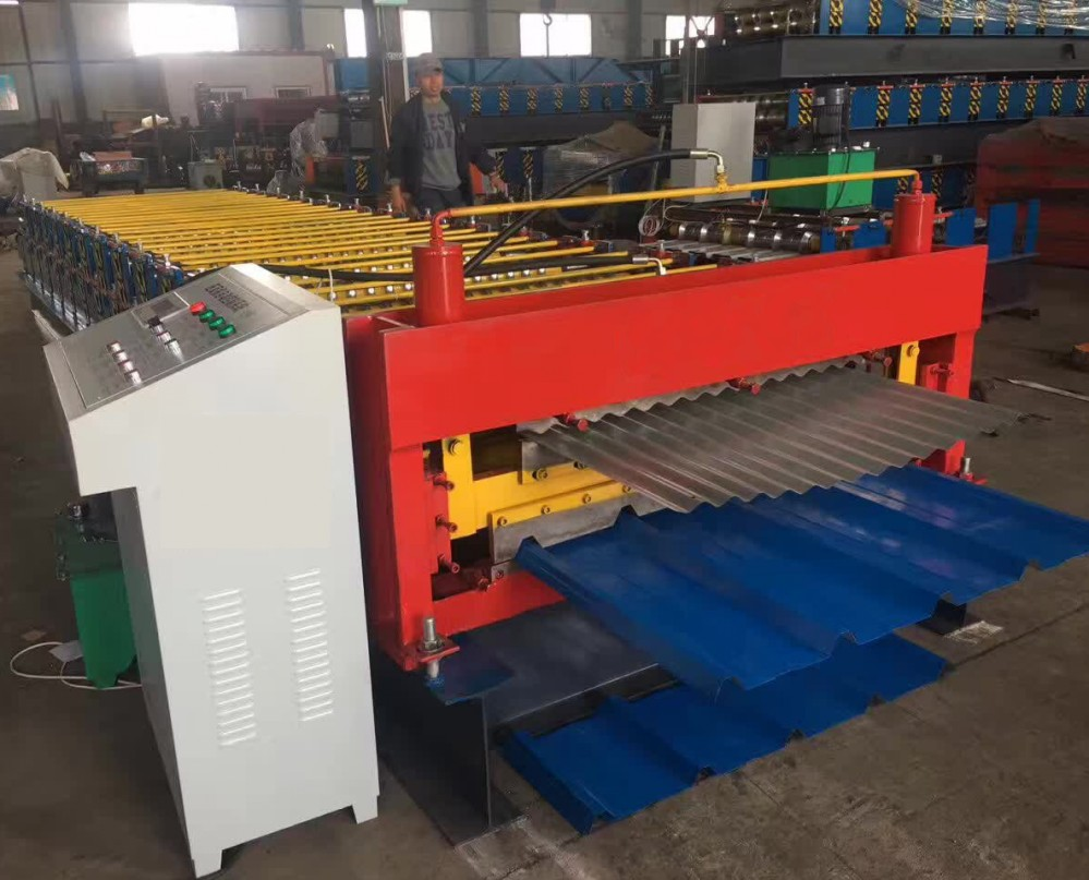 Trapezoidal And Corrugated Double Layer Forming Machine