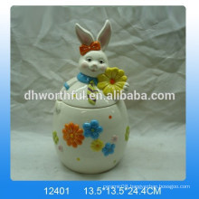 Easter series ceramic storage tank with rabbit design