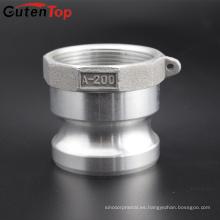 GutenTop 1 '' Adaptador tipo A x NPT Hembra Camlock Latón o manguito de leva y ranura de aluminio