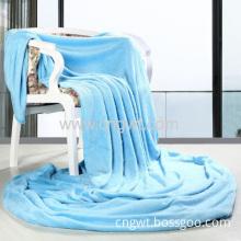Coral Velvet Fleece Blanket Blue Color Blanket