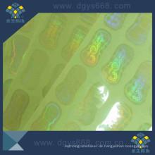 Kundenspezifische Design-Sicherheits-transparente Hologramm-Aufkleber