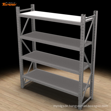 Medium duty boltless metal storage rack with bin
