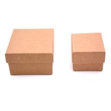 Square Custom Logo Kraft Jewelry Gift Box