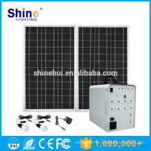 100W mini sistema solar de la iluminación casera para la aplicación casera