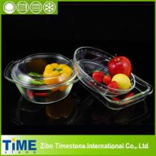 Conjunto de plato de vidrio de Borosilicato