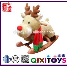 Высокое качество популярные игрушки плюшевые олень лошадка-качалка