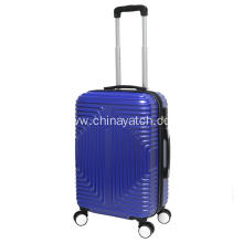 Rhombus design navy blue cheap PC luggage