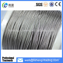 Galvanisé High Tensile Elevator Wire 8x19 Steel Wire Rope