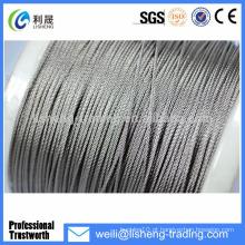 Galvanizado fio de elevação de alta tensão 8x19 corda de aço