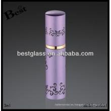 Botella de perfume del metal rosado 3ml, perfume de rihanna de aluminio, perfume de rihanna con la impresión
