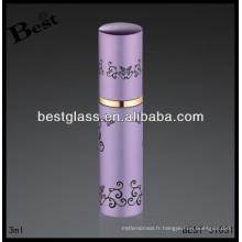 Bouteille de parfum en métal rose de 3ml, parfum de rihanna en aluminium, parfum de rihanna avec l'impression