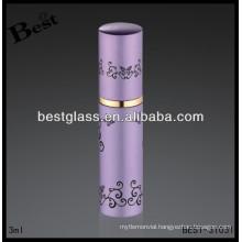 3ml pink metal perfume bottle, aluminium rihanna perfume, rihanna perfume with printing