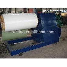 Máquina de desenrolamento hidráulico para chapas de aço coloridas