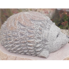 Natural blue stone hedgehog carvings