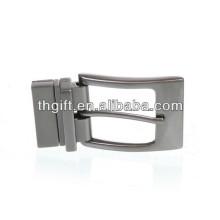 Hebilla de cinturón de metal personalizado con plata de chapado