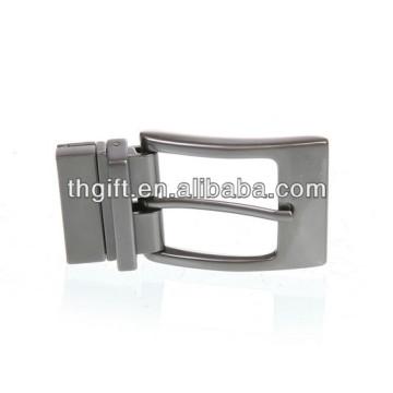 Fivela de cinto de metal personalizada com chapeamento de prata