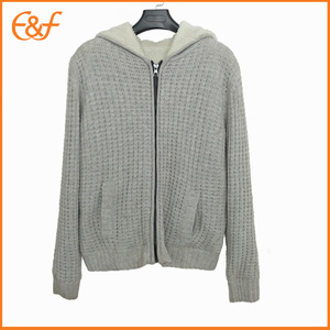 Knitted Cap Sweater Jacket Men Used For Winter