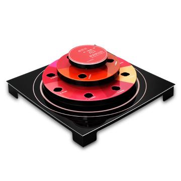 Expositor de acrílico de bancada elegante APEX para batom