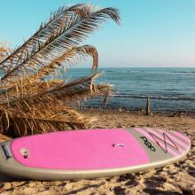 Pink inflatable stand up paadle board for surfing