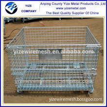 Heavy duty Industrial Warehouse Metal Wire Storage Containers /Stackable Storage Pallet Cage Wire Mesh Boxes(manufacturer)