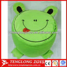 Cute cartoon animal style frog shaped inflatable stool