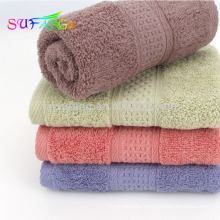 2018 Home use towel/100% combed cotton solid color hotel bath towels