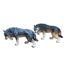 Figurine de resina Wolf Decor