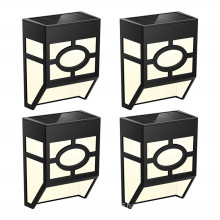 Solar Led Waterproof Wall Light For Deck Fence