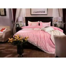 Microfibre Peach Skin Solid Comforter Set With Lace