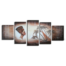 Popular Canvas Art African Art Figurative Oil Painting (AR-078)