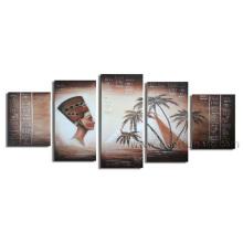 Arte popular da lona Arte africana Pintura a óleo figurativa (AR-078)