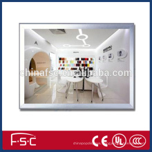 Clip frame led light box slim snap open picture frame