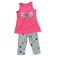 Flower Children Clothes in Kids Suit with Print in 70% Pant SGS-105