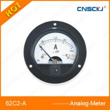 62c2-um medidor de amperímetro analógico montado DC