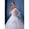 Long train robe de mariée princesse blanche robe de mariée amovible 2018 robe de mariée avec châle