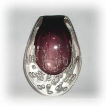 Vaso de vidro bolha