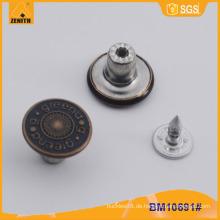 Metallknopf, kundenspezifische Jean-Knöpfe BM1691