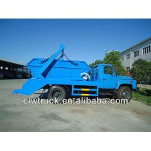 DFAC 6000L camión de basura, saltar camión de basura con contenedores