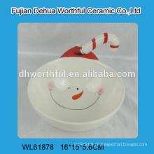 2016 lastest snowman design keramische schüssel mit buttermesser