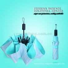 Suporte de refrigeração super da proteção do sol Listra do colorfull do estilo de Partysu guarda-chuva de aço do preto de dobramento 3