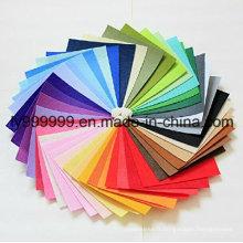 Feuille de tissu non tissé en feutre en polyester bricolage pour travaux artisanaux 42 couleurs Super doux carrés 5.9 * 5.9 pouces, environ 1.5mm épais,