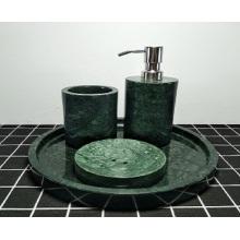 bouteille de bain en marbre vert foncé